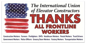 IUEC Thanks Frontline Workers